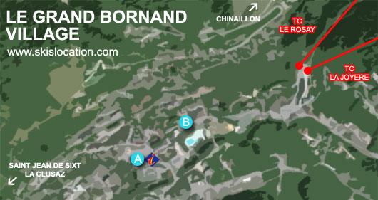carte le grand bornand village