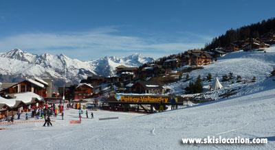 magasins de location de ski à Vallandry au pied des pistes