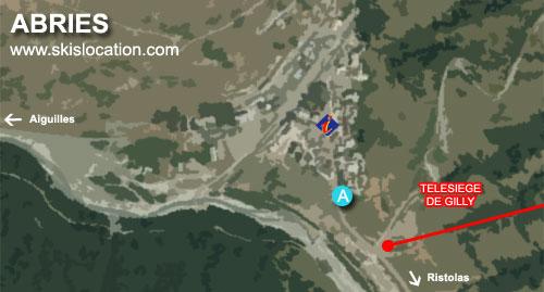 plan Abries station de ski du queyras