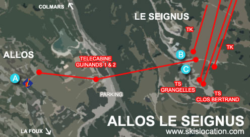 plan allos le seignus station ski