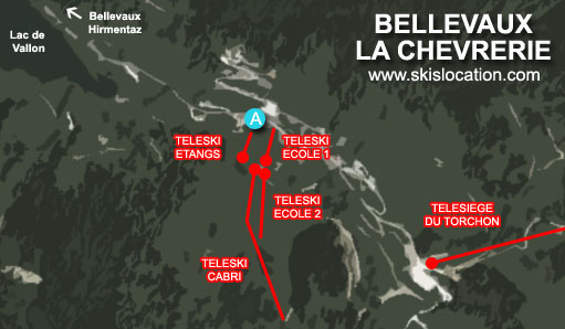 plan bellevaux la chevrerie station de ski roc d'enfer