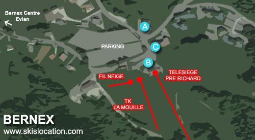 plan bernex station ski haute savoie