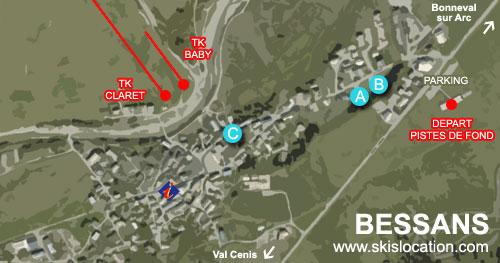 plan bessans village station de ski