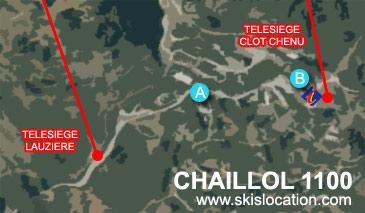 plan chaillol 1100 station de ski du champsaur