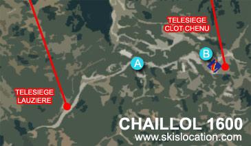 plan chaillol 1600 station de ski du champsaur