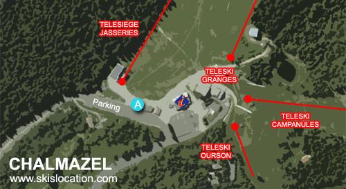 plan chalmazel station de ski – télésiège office du tourisme location de ski