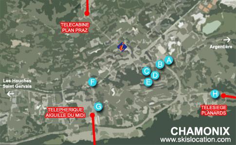 plan chamonix – carte station de ski mont blanc