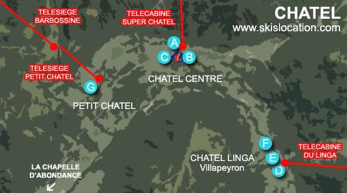 carte plan chatel station de ski portes du soleil