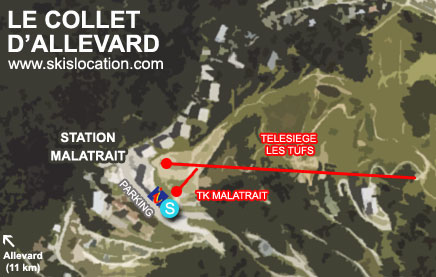 plan collet d'allevard station ski