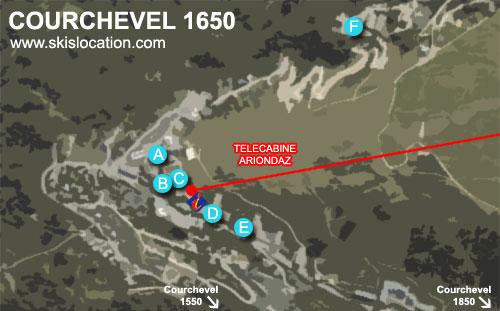 plan courchevel 1650 Moriond station de ski des 3 Vallées