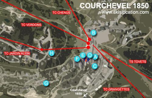 plan courchevel 1850 station de ski