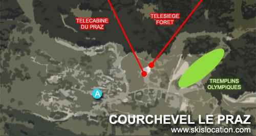 plan courchevel le praz 1300 station de ski