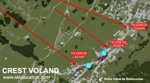 plan crest voland cohennoz station ski