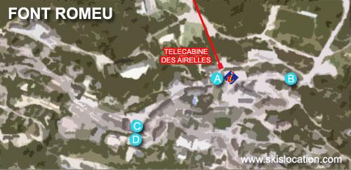 plan font romeu station de ski des Pyrénées
