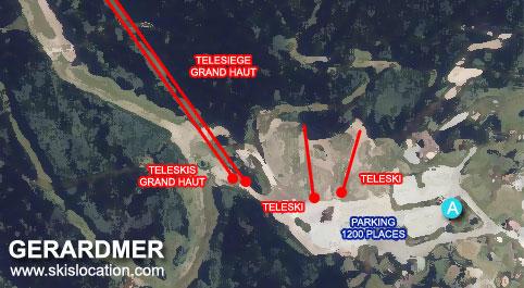 plan gerardmer ski la mauselaine