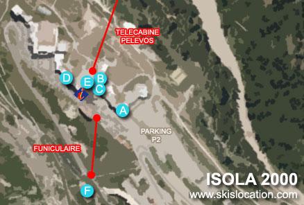 plan isola 2000 station de ski