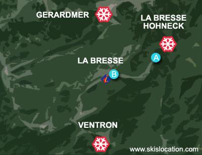 plan la bresse hohneck station ski vosges