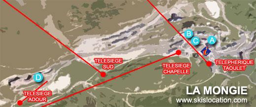 plan la mongie station de ski grand tourmalet