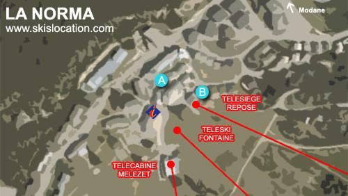 plan la norma station ski