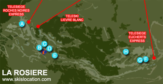 plan la rosière les eucherts station de ski en savoie