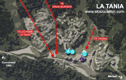 plan la tania station de ski