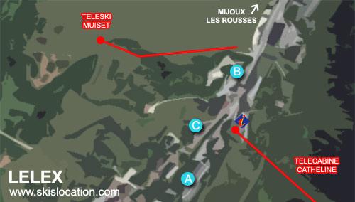plan lelex station ski monts jura telecabine