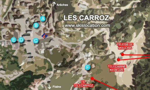 plan les carroz d'araches station de ski