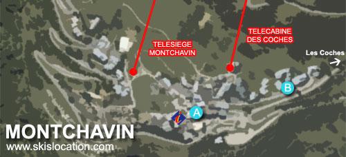 plan montchavin station ski