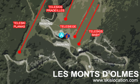 plan monts d'olmes station de ski