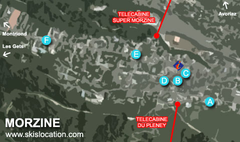 plan morzine station location ski