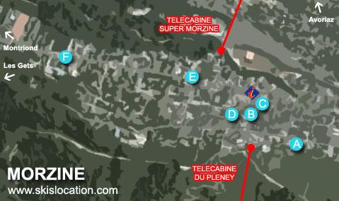 plan morzine station location ski