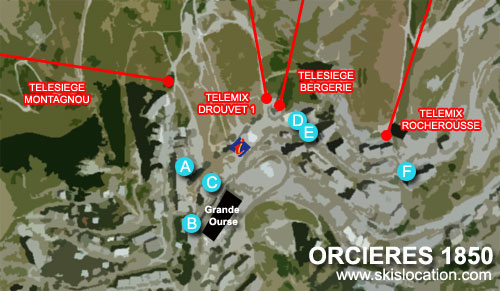 plan orcières merlettes 1850 station de ski des hautes alpes
