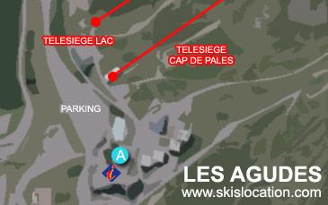 plan peyragudes les agudes station ski