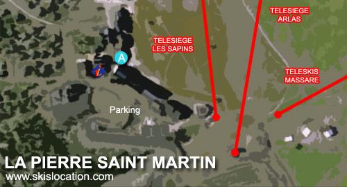 plan la pierre saint martin - carte station de ski des pyrénées