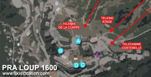plan pra loup 1600 station ski espace lumiere