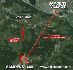 plan samoens 1600 ski plateau des saix