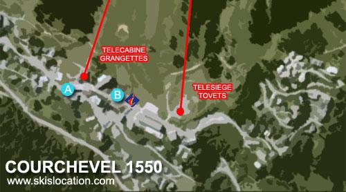 plan station courchevel 1550