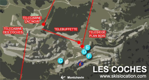plan station les coches
