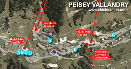 plan station peisey vallandry