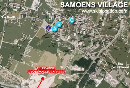 plan station samoens village magasins location ski