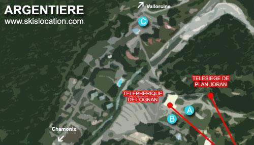 plan station de ski argentière