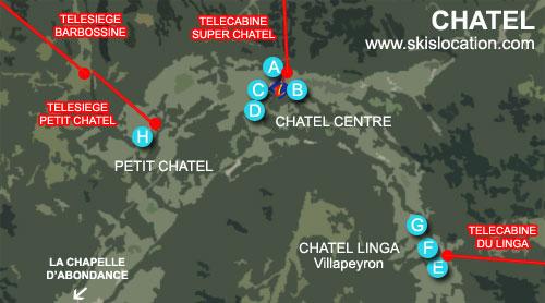 plan station ski chatel linga