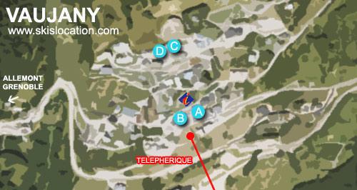 plan station ski vaujany