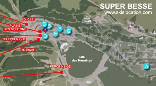 plan superbesse station de ski massif du sancy