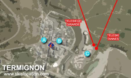 plan termignon station ski magasins location matériel