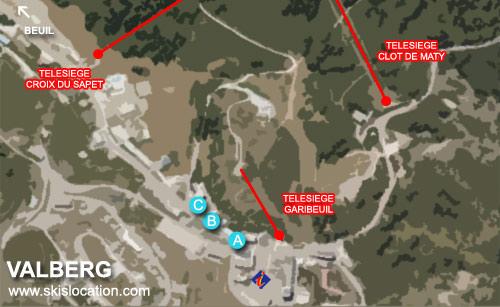plan valberg carte de la station de ski