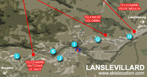 plan valcenis lanslevillard station de ski