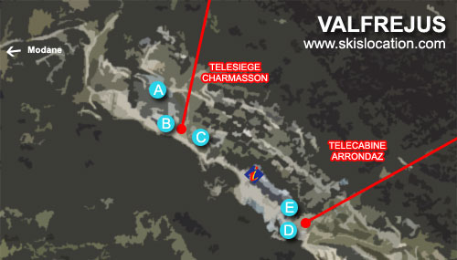 plan valfrejus station de ski magasins location