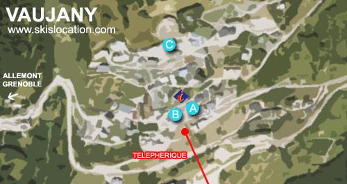 plan vaujany station ski