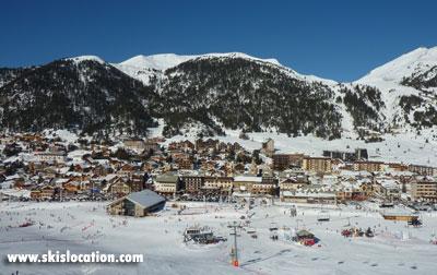 station de ski de montgenèvre et le versant du Chalvet